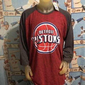 Detroit Pistons NBA Basketball 3XL Long Sleeve Tee
